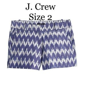 J. Crew ikat shorts